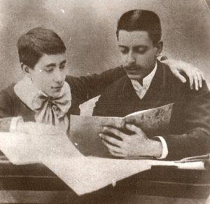Viñes i Enric Granados durant els seus anys d'estudi a París (1889)