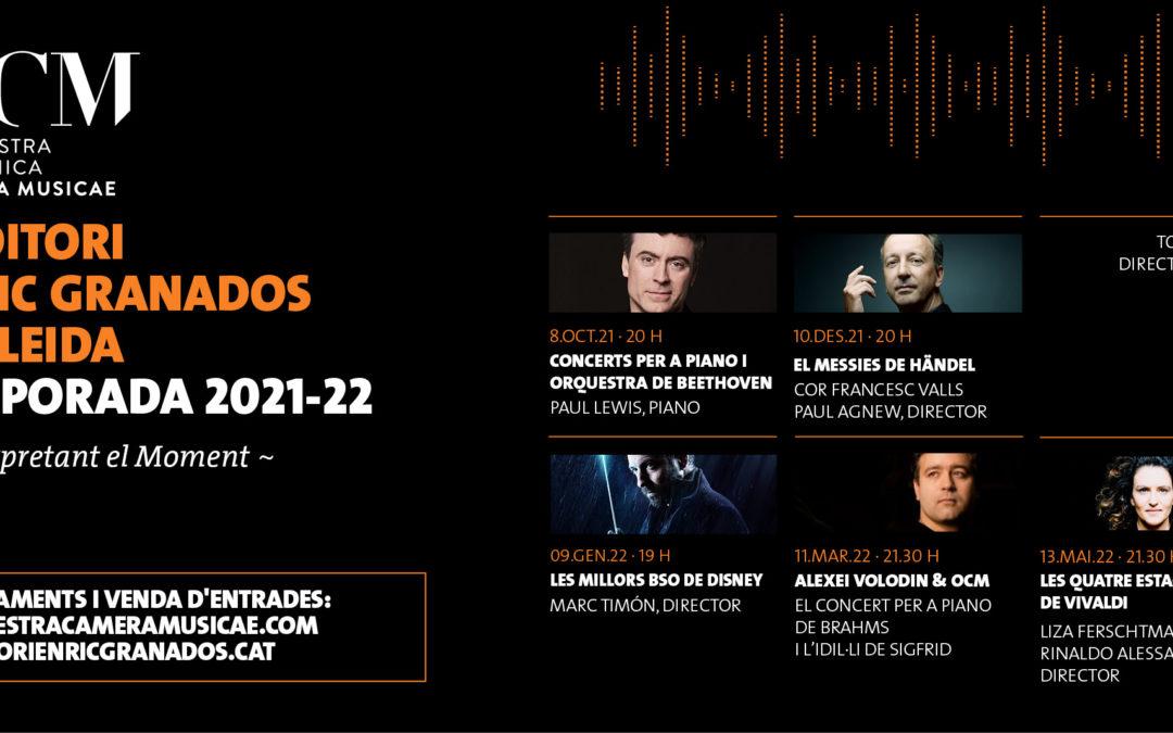 Presentació Temporada 21-22 ORQUESTRA CAMERA MUSICAE- Abonaments