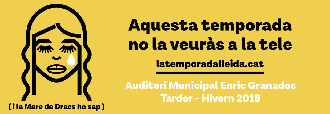 Entradas a la venta para los espectáculos de otoño de LaTemporada de artes escénicas y música de Lleida