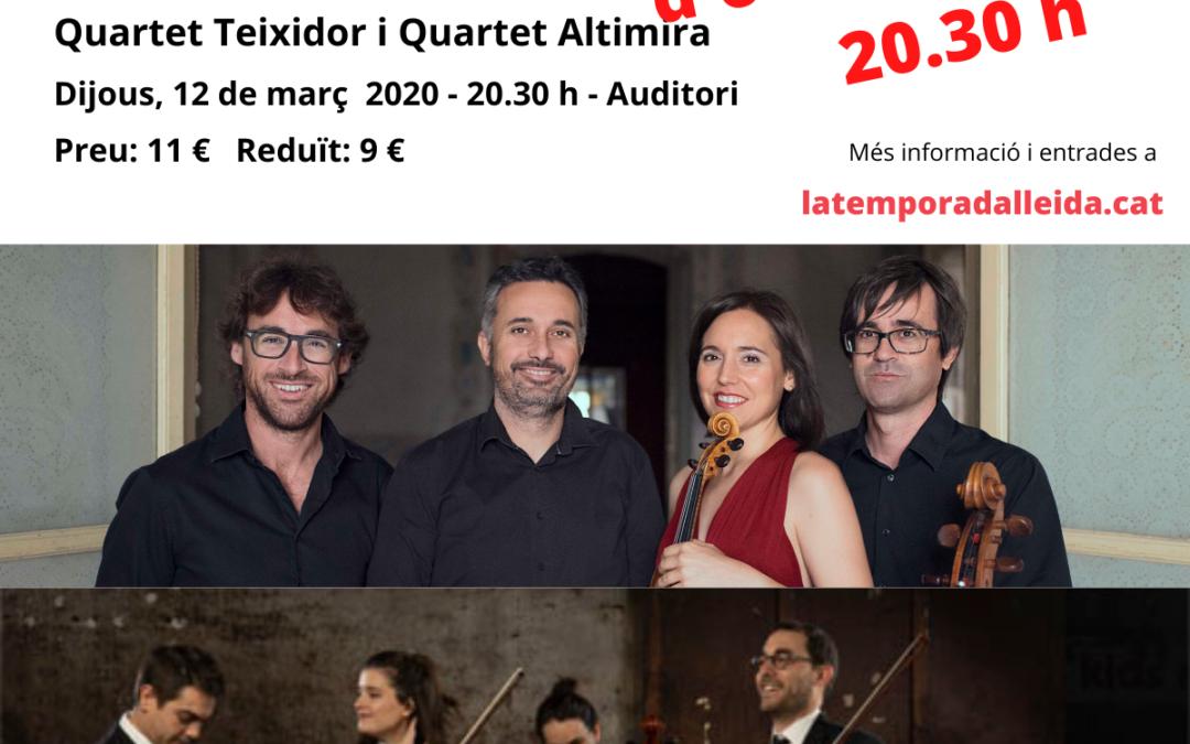 NOVA DATA: L'OCTET DE MENDELSSOHN. Quartet Teixidor i Quartet Altimira