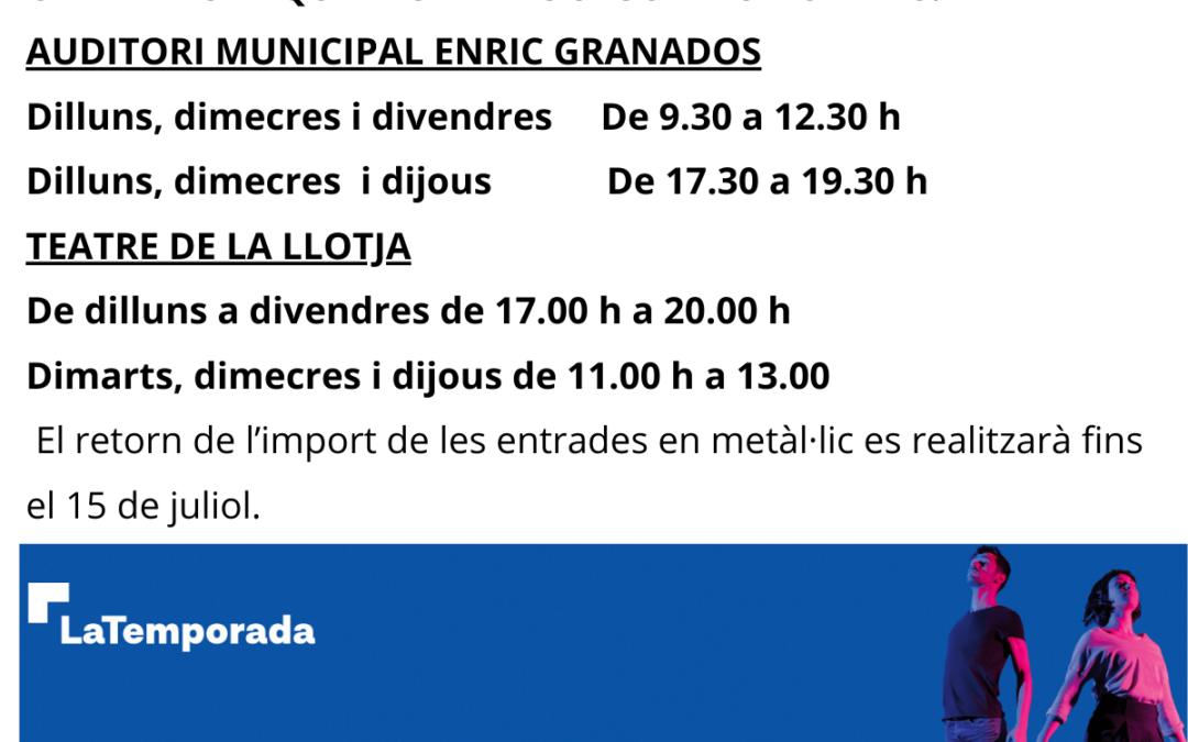 LaTemporada Lleida retornarà l'import de totes les entrades venudes