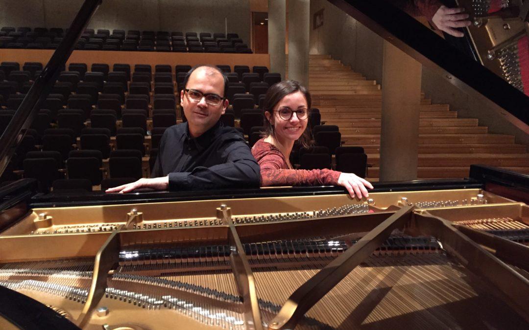CONCERT DE PIANO A QUATRE MANS, A BANDA I BANDA DE L'ATLÀNTIC. ENRIC PRIÓ I MARTA CASTELLÓ