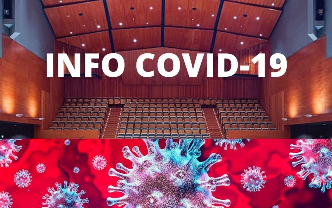 Recomanacions per venir a l'Auditori. Ajuda'ns a fer de l'Auditori un espai segur. Consulta les mesures per a la prevenció de la Covid-19