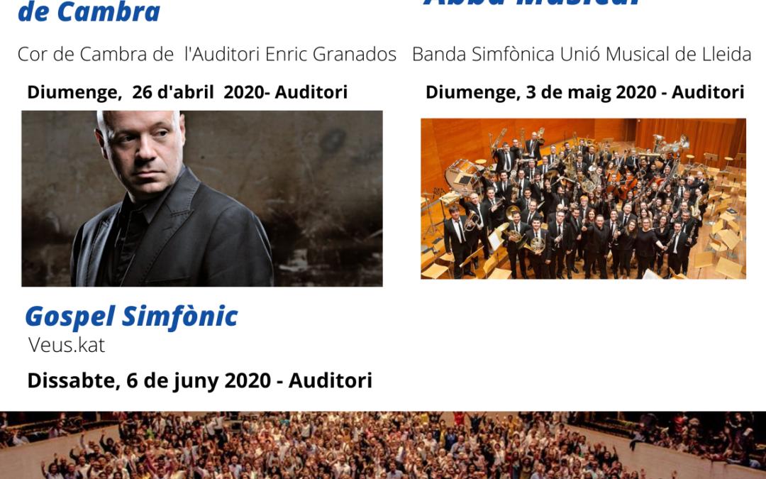 Actualitzem informació dels concerts programats a l'Auditori Municipal Enric Granados