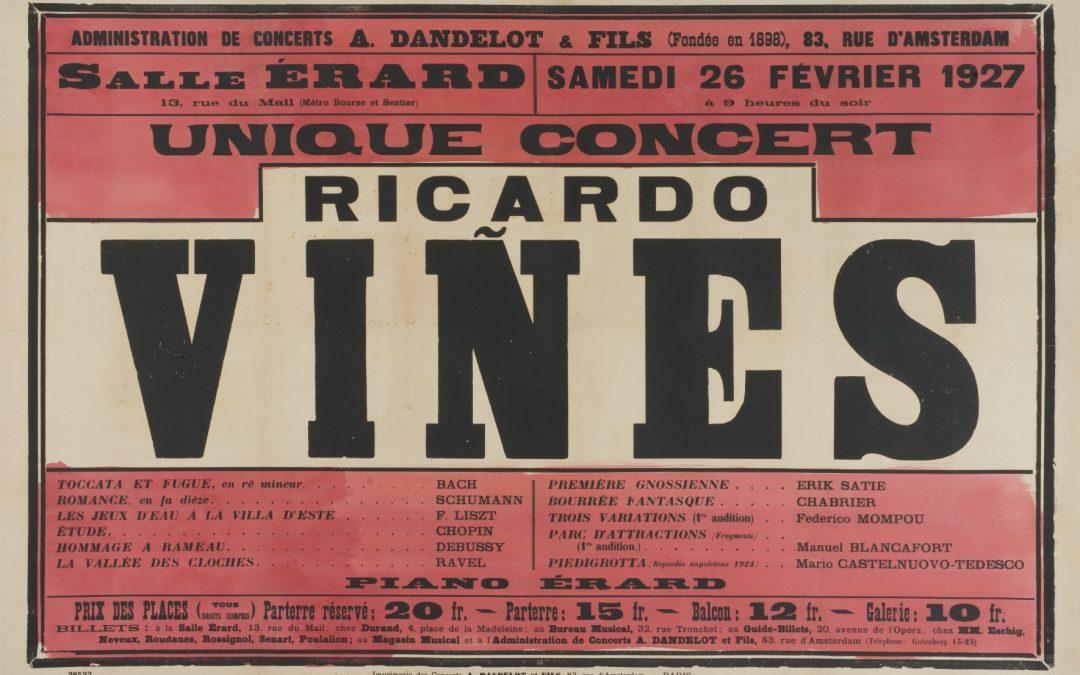 """""""Ricard Viñes en concert: 30 anys de cartellisme a París (1898-1928)"""""""