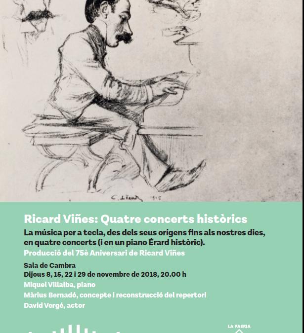 Tercer dels 4 concerts històrics per reviure Ricard Viñes